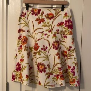 EUC Laundry by Shelli Segal floral skirt